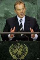 Tony Blair addresses the UN General Assembly, Sept. 2005