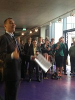 John Rentoul addresses admirers and critics of New Labour's legacy at MEG/QMU. (Photo by Chris White.)