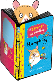 Humphrey and his latest book, Spring According to Humphrey