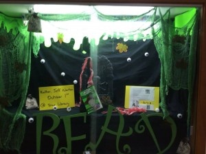 Awesome display outside the library at Pineland P.S.